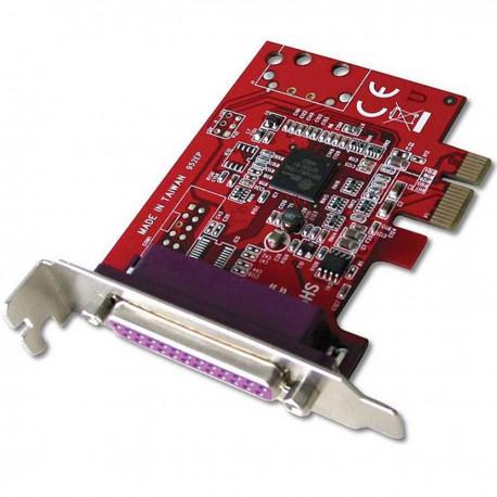 Carte 1x Port Parallèle IEEE1284 DB-25 PCI-e LINDY 952EP AM2887E Low Profile