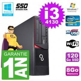 PC Fujitsu Esprimo E720 E85+ DT i3-4130 RAM 8Go Disque 120 Go SSD Wifi W7