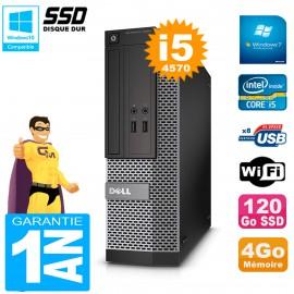 PC DELL 3020 SFF Core I5-4570 RAM 4Go Disque Dur 120 Go SSD Graveur DVD Wifi W7