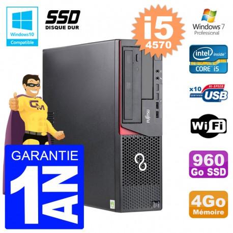 PC Fujitsu Esprimo E720 E85+ DT i5-4570 RAM 4Go Disque 960 Go SSD Wifi W7