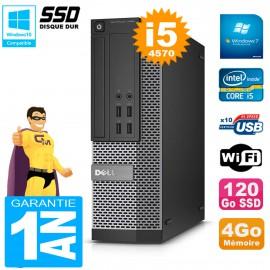 PC DELL 7020 SFF Core I5-4570 RAM 4Go Disque Dur 120 Go SSD Graveur DVD Wifi W7