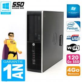 PC HP Compaq 8300 SFF Intel G850 RAM 4Go Disque 120 Go SSD Graveur DVD Wifi W7