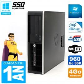 PC HP Compaq 8300 SFF Intel G850 RAM 4Go Disque 960 Go SSD Graveur DVD Wifi W7