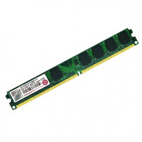Ram Barrette Mémoire TRANSCEND 2Go DDR2 PC2-5300U 667Mhz JM667QLU-2G Unbuffered