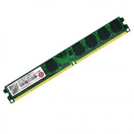 2Go Ram Barrette Mémoire TRANSCEND JM800QLU-2G DDR2 PC2-6400U 800Mhz Low profile
