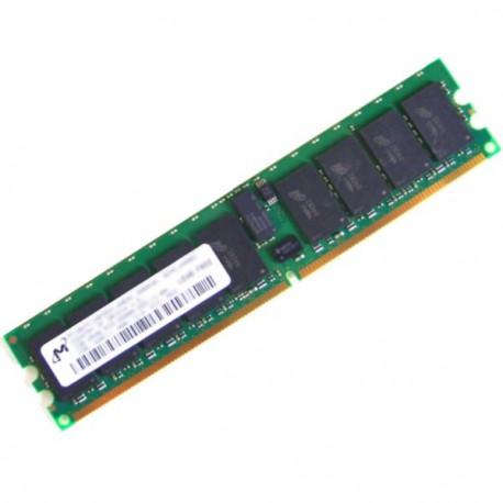 Ram Serveur MICRON 1Go DDR2 PC2-3200R Registered ECC 400Mhz MT18HTF12872DY-40EA1