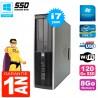 PC HP Compaq 8200 SFF Core I7-2600 RAM 8Go Disque 120 Go SSD Graveur DVD Wifi W7