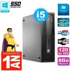 PC HP EliteDesk 800 G1 SFF Core I5-4570 8Go Disque 120 Go SSD Graveur DVD Wifi W7