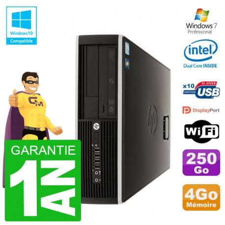 PC HP Compaq 8100 SFF G6950 RAM 4Go Disque 250Go Graveur DVD Wifi W7