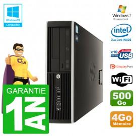 PC HP Compaq 8100 SFF G6950 RAM 4Go Disque 500Go Graveur DVD Wifi W7