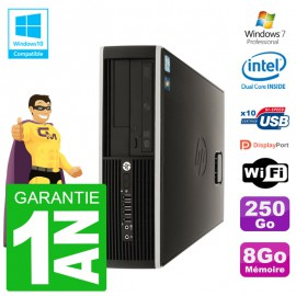 PC HP Compaq 8100 SFF G6950 RAM 8Go Disque 250Go Graveur DVD Wifi W7