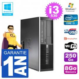 PC HP Compaq 8100 SFF i3-530 RAM 8Go Disque 250Go Graveur DVD Wifi W7