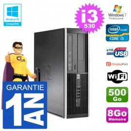 PC HP Compaq 8100 SFF i3-530 RAM 8Go Disque 500Go Graveur DVD Wifi W7