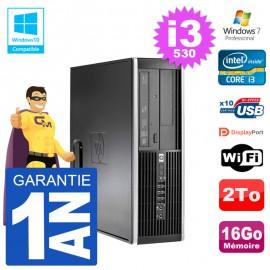 PC HP Compaq 8100 SFF i3-530 RAM 16Go Disque 2To Graveur DVD Wifi W7