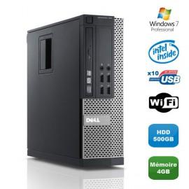 PC DELL Optiplex 790 SFF Intel Pentium G840 2.8Ghz 4Go DDR3 500Go WIFI Win 7 Pro