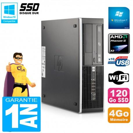 PC HP Compaq 6005 Pro SFF AMD Phenom II RAM 4Go 120 Go SSD Graveur DVD Wifi W7