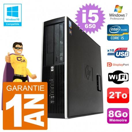 PC HP Compaq 8100 SFF i5-650 RAM 8Go Disque 2To Graveur DVD Wifi W7