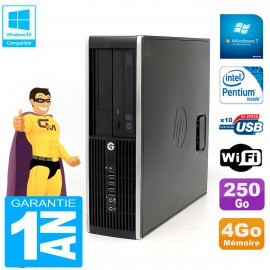 PC HP Compaq Pro 6200 SFF Intel G840 RAM 4Go 250 Go Graveur DVD Wifi W7