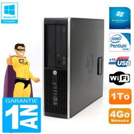 PC HP Compaq Pro 6200 SFF Intel G840 RAM 4Go 1To Graveur DVD Wifi W7