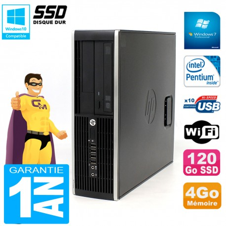 PC HP Compaq Pro 6200 SFF Intel G840 RAM 4Go 120 Go SSD Graveur DVD Wifi W7