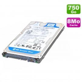 Disque Dur 750Go SATA 2.5 WD Scorpio Blue WD7500BPVT-16HXZT3 PC Portable 5400RPM