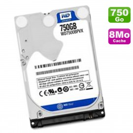 Disque Dur 750Go SATA 2.5 WD Scorpio Blue WD7500BPVT-00A1YT0 PC Portable 5400RPM