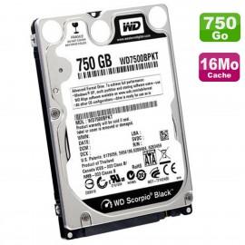 "Disque Dur 750Go SATA 2.5"" WD Scorpio Black WD7500BPKT-22PK4T0 PC Portable 16Mo"