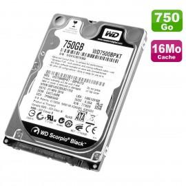 "Disque Dur 750Go SATA 2.5"" WD Scorpio Black WD7500BPKT-00PK4T0 PC Portable 16Mo"