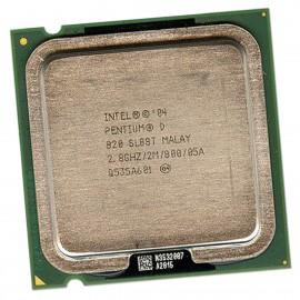 Processeur CPU Intel Pentium Dual Core 820 2.8Ghz SL88T LGA-775 2Mo 800Mhz