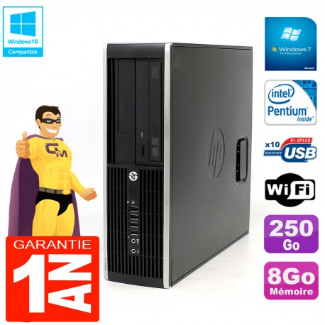 PC HP Compaq Pro 6200 SFF Intel G840 RAM 8Go 250 Go Graveur DVD Wifi W7