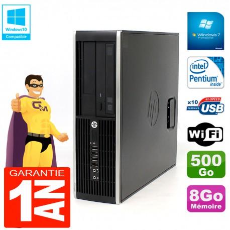 PC HP Compaq Pro 6200 SFF Intel G840 RAM 8Go 500 Go Graveur DVD Wifi W7