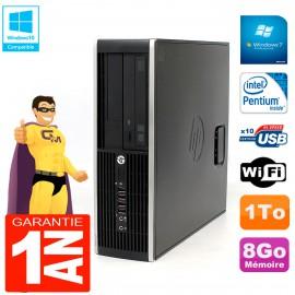 PC HP Compaq Pro 6200 SFF Intel G840 RAM 8Go 1To Graveur DVD Wifi W7
