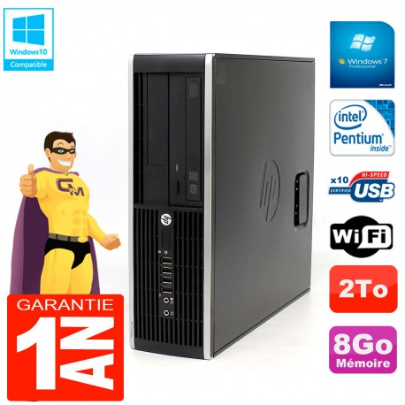 PC HP Compaq Pro 6200 SFF Intel G840 RAM 8Go 2To Graveur DVD Wifi W7