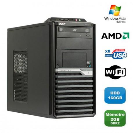 PC ACER Veriton M421G Tour Athlon X2 4850B 2.5Ghz 2Go DDR2 160Go WIFI Win Vista