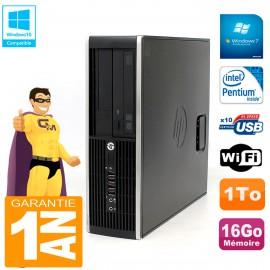 PC HP Compaq Pro 6200 SFF Intel G840 RAM 16Go 1To Graveur Wifi W7