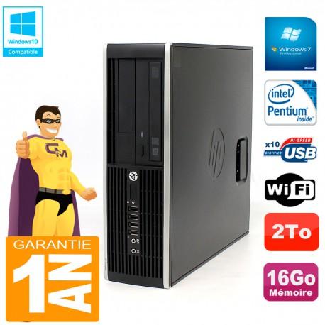 PC HP Compaq Pro 6200 SFF Intel G840 RAM 16Go 2To Graveur Wifi W7