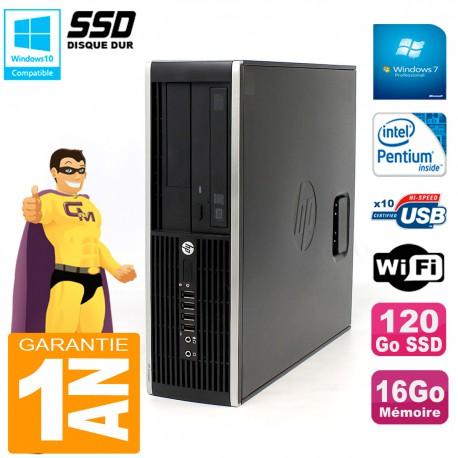 PC HP Compaq Pro 6200 SFF Intel G840 RAM 16Go 120 Go SSD Graveur Wifi W7