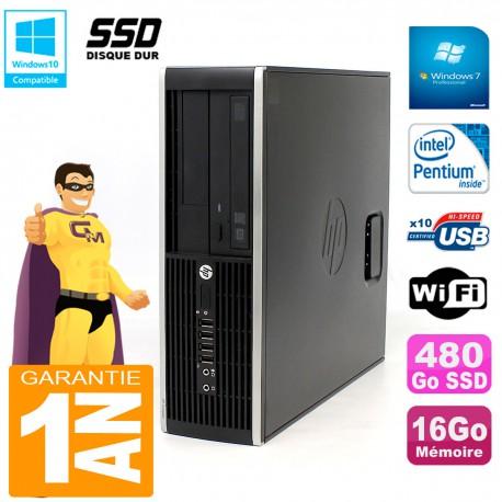 PC HP Compaq Pro 6200 SFF Intel G840 RAM 16Go 480 Go SSD Graveur Wifi W7