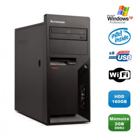PC IBM Lenovo Thinkcentre M57 6075-CTO Pentium D 1.80Ghz 2Go 160Go WIFI XP Pro