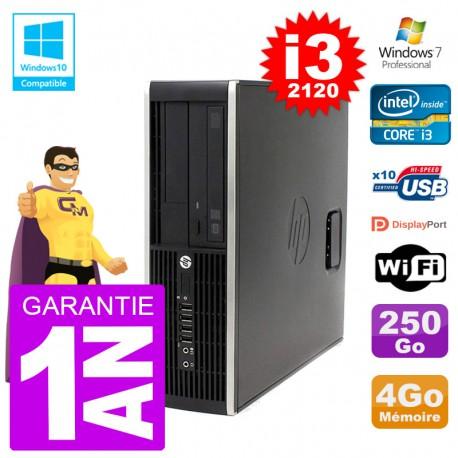 PC HP 6200 SFF Intel i3-2120 RAM 4Go Disque 250Go Graveur DVD Wifi W7