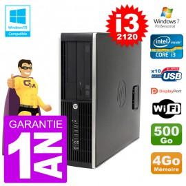 PC HP 6200 SFF Intel i3-2120 RAM 4Go Disque 500Go Graveur DVD Wifi W7
