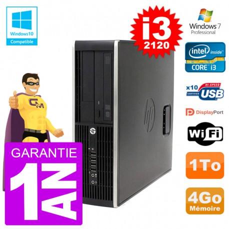 PC HP 6200 SFF Intel i3-2120 RAM 4Go Disque 1To Graveur DVD Wifi W7