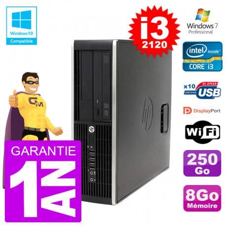 PC HP 6200 SFF Intel i3-2120 RAM 8Go Disque 250Go Graveur DVD Wifi W7