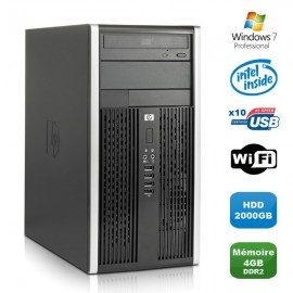 PC HP Compaq 6000 Pro MT Intel E3400 2,6GHz 4Go DDR2 2000Go WIFI Windows 7 Pro