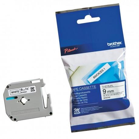 Rouleau Ruban Thermique Imprimante Brother M-K221BZ Noir / Blanc P-Touch NEUF
