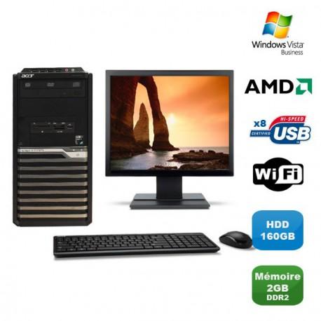"""Lot PC ACER M421G Tour Athlon X2 4850B 2.5Ghz 2Go 160Go WIFI Vista + Ecran19"""""""