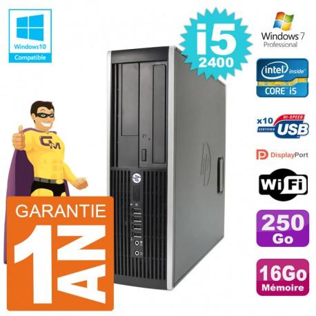 PC HP 6200 SFF Intel i5-2400 RAM 16Go Disque 250Go Graveur DVD Wifi W7