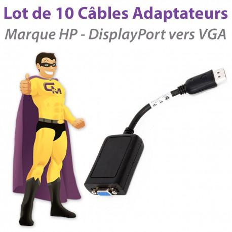 x10 Câbles Adaptateurs HP 481408-003 632484-001 DisplayPort vers VGA NEUF 18cm