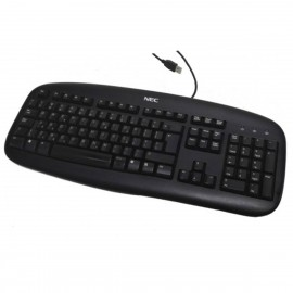 Clavier AZERTY USB NEC Logitech Y-UH61 867937-0101 8003200102 105 Touches NEUF