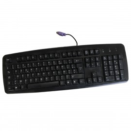 Clavier PC Filaire AZERTY PS/2 NEC TKB020 6944610102 105 Touches PC Keyboard